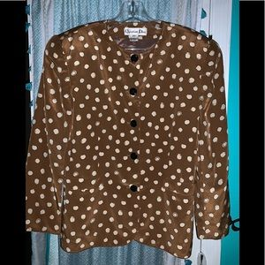 VNT Christian Dior Silk Button Down Top